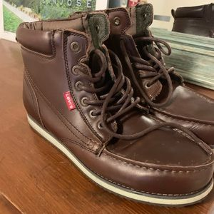 Levi's Men Brown Leather Boots